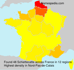 Surname Schiettecatte in France