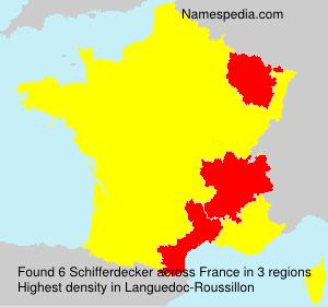 Surname Schifferdecker in France