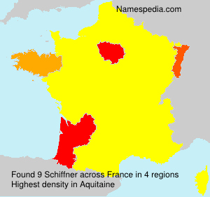 Surname Schiffner in France