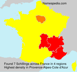 Surname Schillings in France