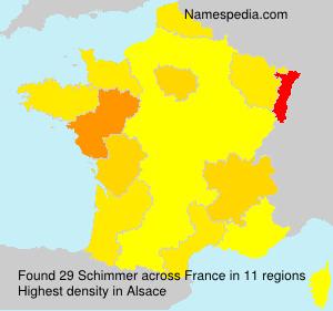 Surname Schimmer in France