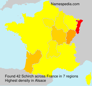Surname Schirch in France