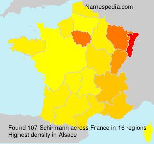 Surname Schirmann in France