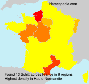 Surname Schitt in France