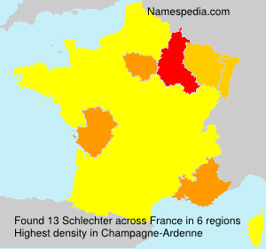 Surname Schlechter in France