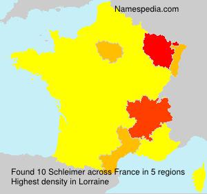 Surname Schleimer in France