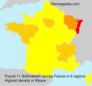 Surname Schlindwein in France