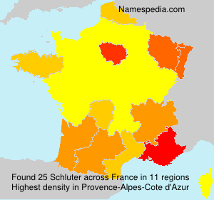 Surname Schluter in France