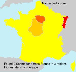 Surname Schmeder in France