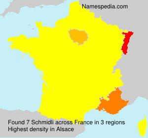 Surname Schmidli in France