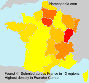 Surname Schmied in France