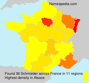 Surname Schmieder in France