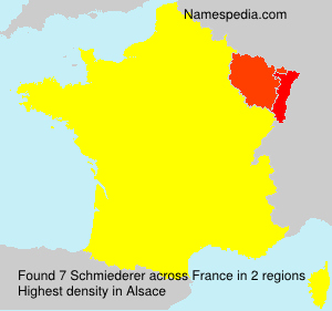 Surname Schmiederer in France