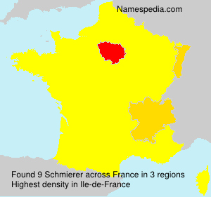 Surname Schmierer in France