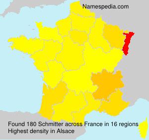 Surname Schmitter in France