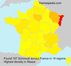 Familiennamen Schmuck - France