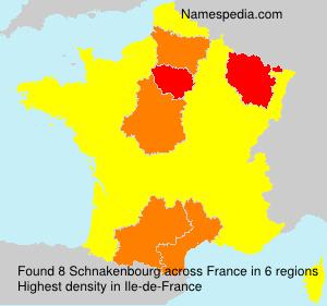 Surname Schnakenbourg in France