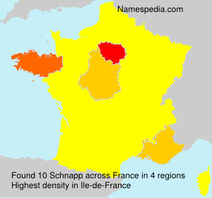 Surname Schnapp in France