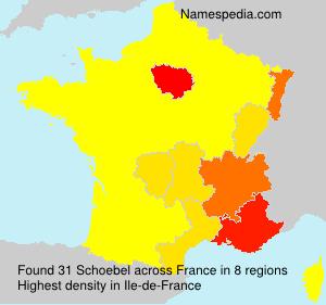 Familiennamen Schoebel - France