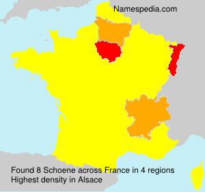 Surname Schoene in France