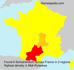 Surname Schoenknecht in France