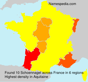 Surname Schoennagel in France