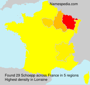 Surname Schoepp in France