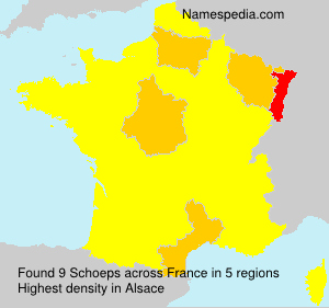 Surname Schoeps in France