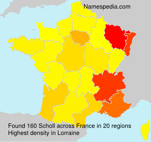 Surname Scholl in France