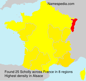 Surname Scholly in France