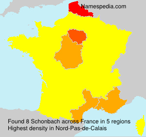 Surname Schonbach in France