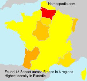 Surname Schoof in France