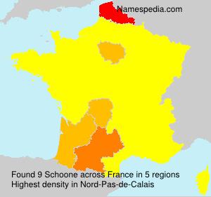 Familiennamen Schoone - France