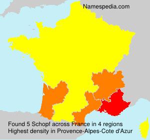 Surname Schopf in France