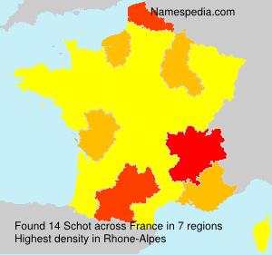 Surname Schot in France