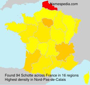 Surname Schotte in France