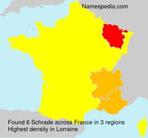 Surname Schrade in France