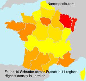 Familiennamen Schrader - France