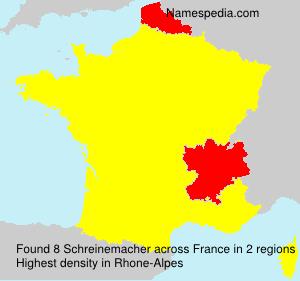 Surname Schreinemacher in France