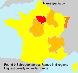 Surname Schroedel in France