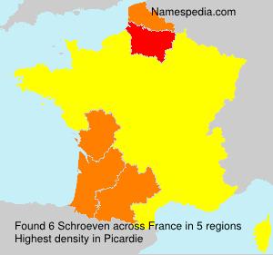 Familiennamen Schroeven - France