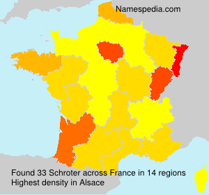 Surname Schroter in France