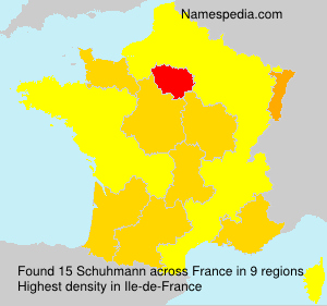 Surname Schuhmann in France