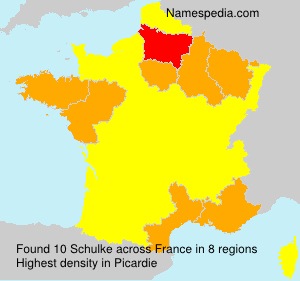 Surname Schulke in France
