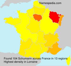 Familiennamen Schumann - France
