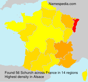 Surname Schurch in France