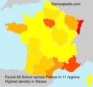 Surname Schurr in France