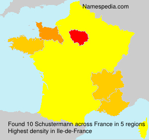 Surname Schustermann in France