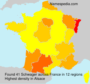 Surname Schwager in France