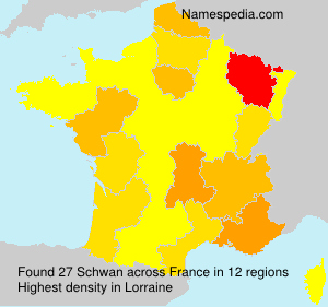 Surname Schwan in France